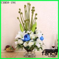 New arrived artificial floral arrangements decorative calla lily mixed rose flowers arrangements for sale