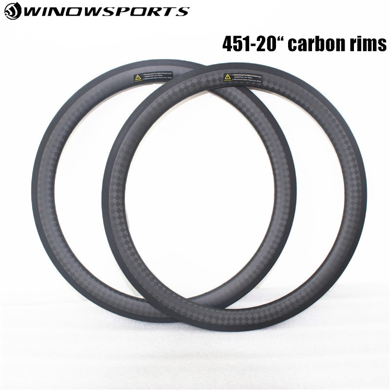 carbon wheels 20 inch 451 carbon wheelset 21mm width bmx wheel 38mm depth single speed carbon rims