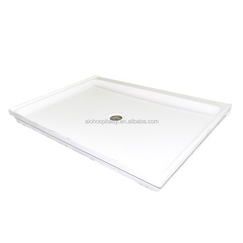 "60""x36""x3"" Rectangle Center Drain Cultured Marble Shower Pan with textured non slip floor"