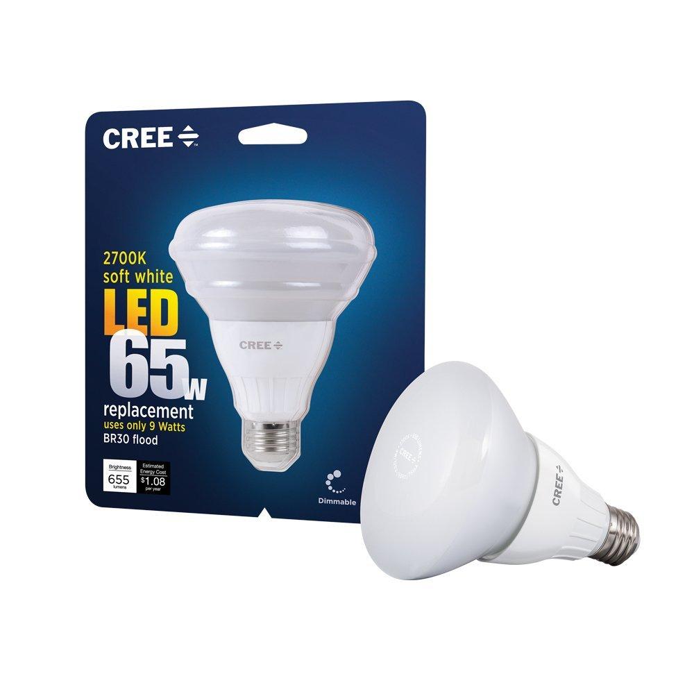 (Pack of 4) Cree 9-watt (65w) Soft White (2700k) Br30 Dimmable LED Flood Light Bulb (New Model)
