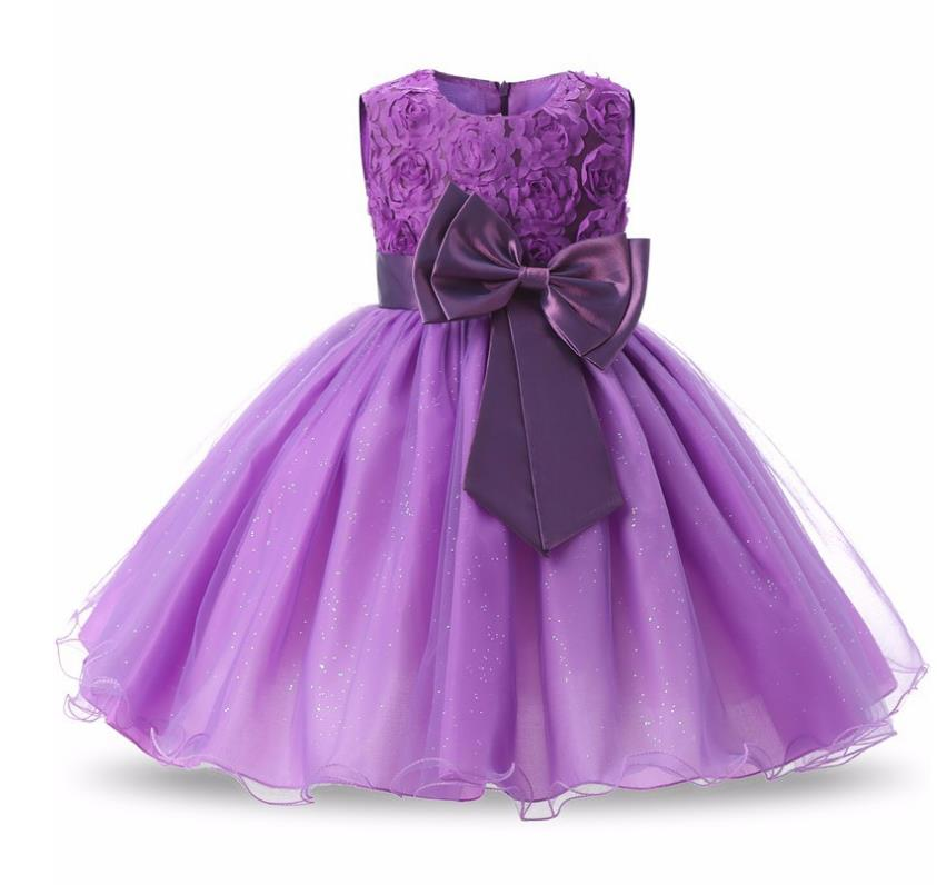 Teenager Party Dress Kids Flower Girls Dress For Wedding Birthday Party Dress