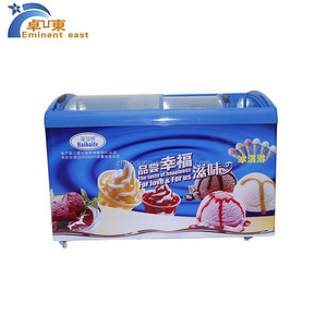 Supermarket Commercial Ice Cream Chest Freezer Refrigeration Equipment