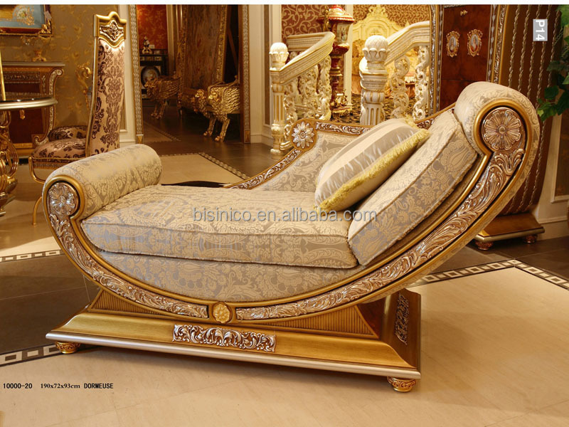 Luxury French Style Living Room Chaise Lounge/royal Palace Golden ...