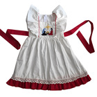 Christmas Theme Baby Girls White Tunic Dress Boutique Sleeveless Children's Skirt With Ruffle For Wholesale