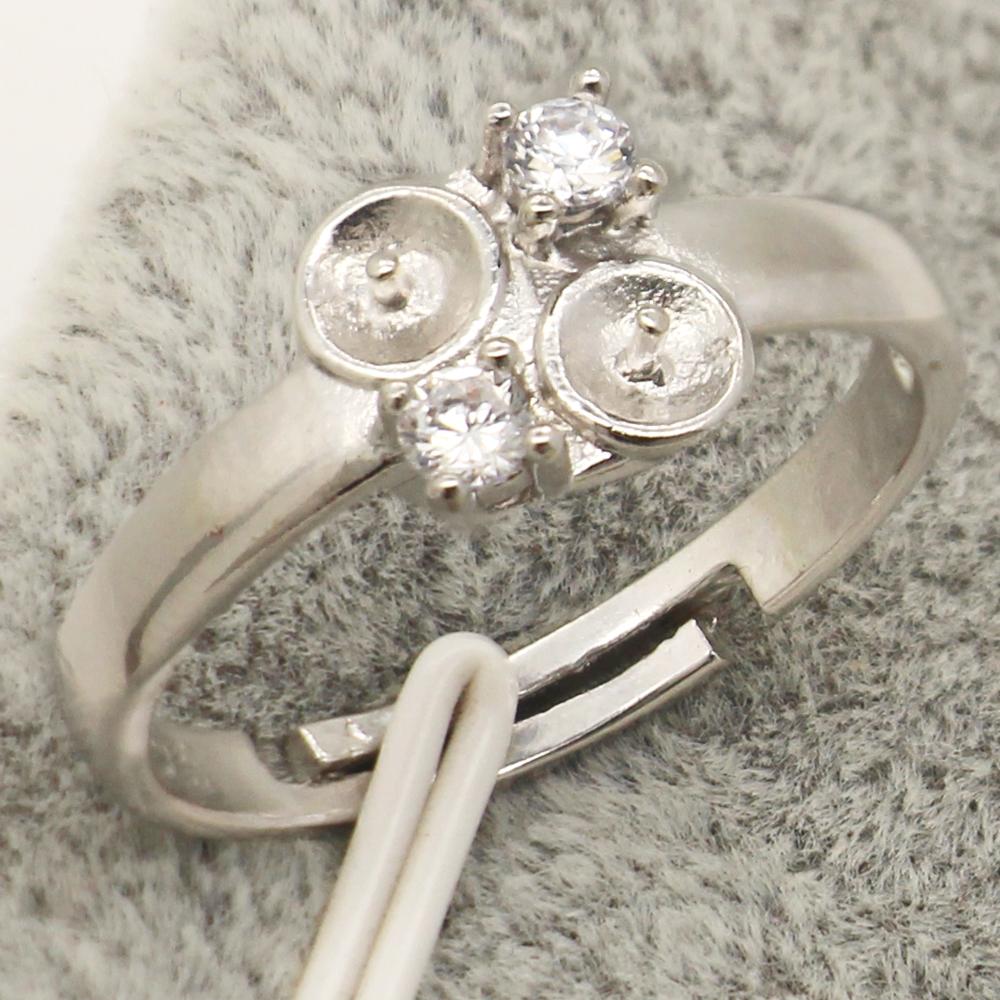 84e7a3374 De moda doble anillos de perlas vacío accesorios anillo Venta caliente  anillo de