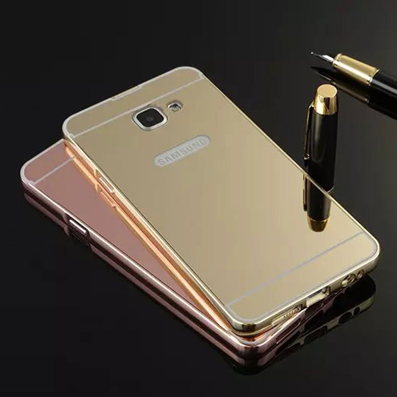 for samsung a5 a5100 mobile accessories electroplating aluminum PC mirror cover mobile phone case factory