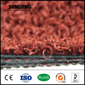 SGS certificated golf red artificial turf for outdoor use