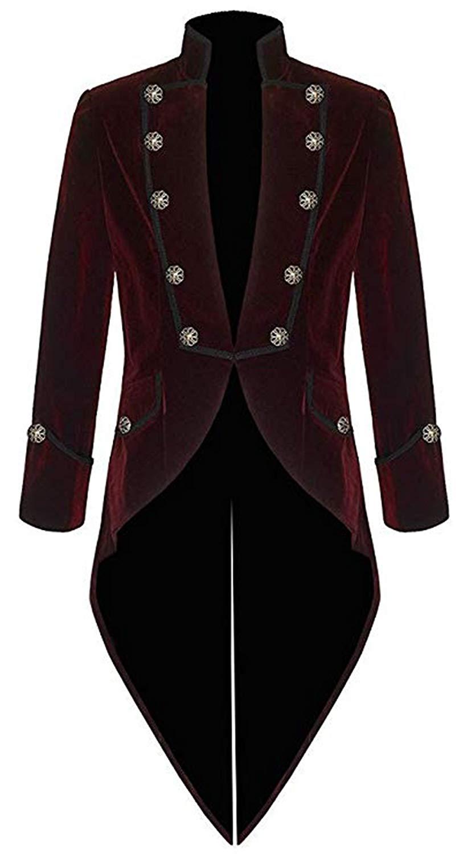 d3b5d91620c7 Get Quotations · Vintage Men s Velvet Tailcoat Black Mens Gothic Tailcoat  Long Jacket Blue Velvet Steampunk Victorian Coat Stylish