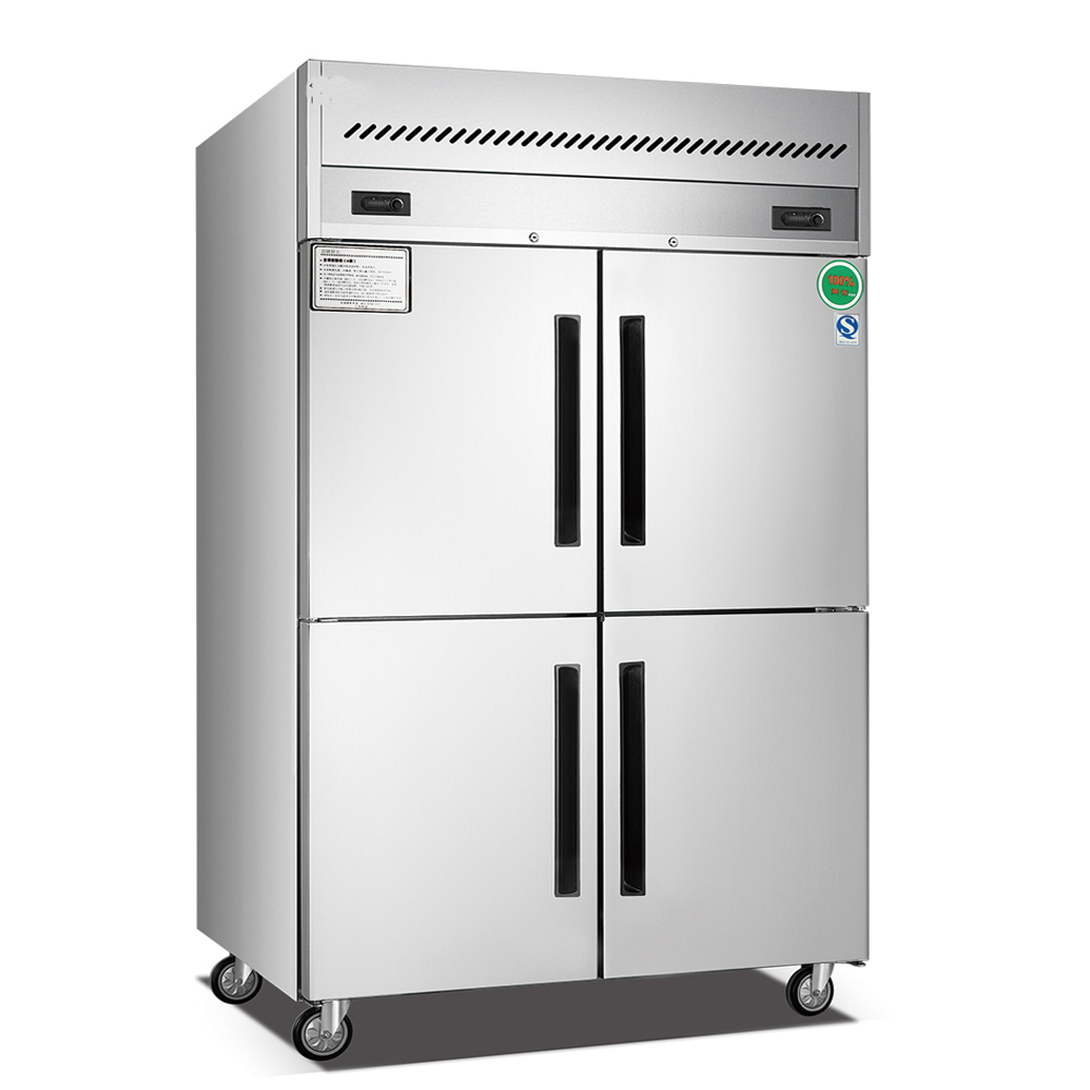 1000L new style used 4 doors stainless steel commercial refrigerator
