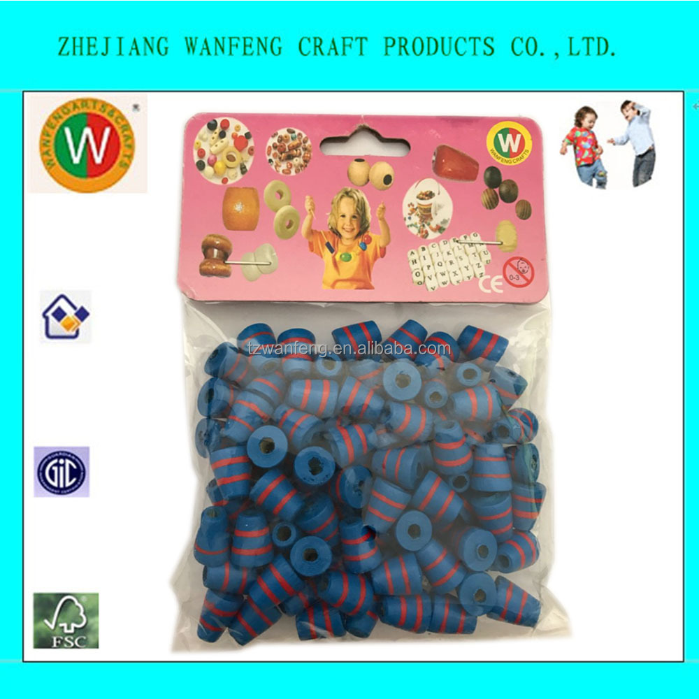 custom wood beads Spiral Pattern Import wood Beads From China