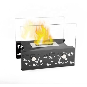 Factory direct wholesale lowes glass bio table ethanol fireplace