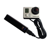 For GoPro battery Coupler, eliminator,Hero3/3+ w 2200 mAh <span class=keywords><strong>powerbank</strong></span>,charging cable