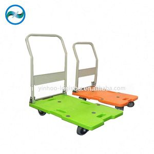 fold-able push cart / plastic hand truck Chinese trolley / dolly / handcart
