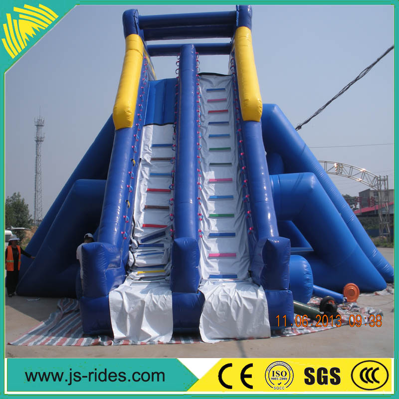 2016 amusement park lake inflatable water slides for adults