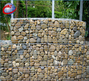 Rock wall gabion box / welded wire mesh gabion box / 1X1X1 gabion box