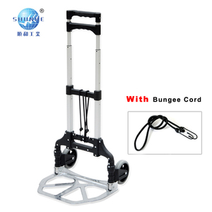aluminum two wheel folding hand trolley 60KG foldable hand cart for house using