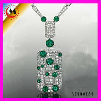 EMERALD INDIAN PENDANT NECKLACE