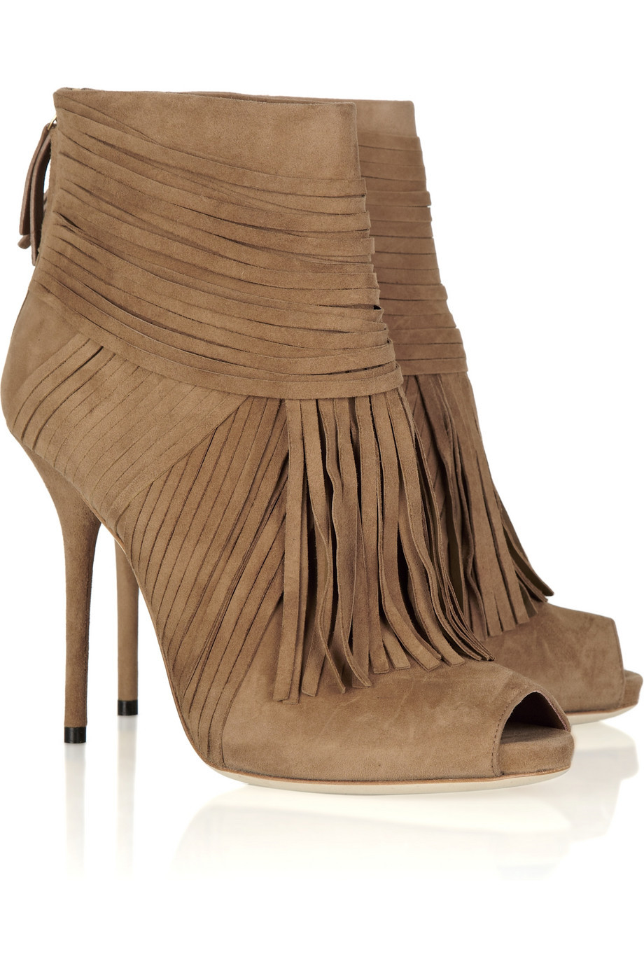 a18c0a2c8345 Get Quotations · 2015 Newest Sexy Peep Toe Suede Fringed Ankle Boots Woman  Designer High Heel Boots Autumn Fashion