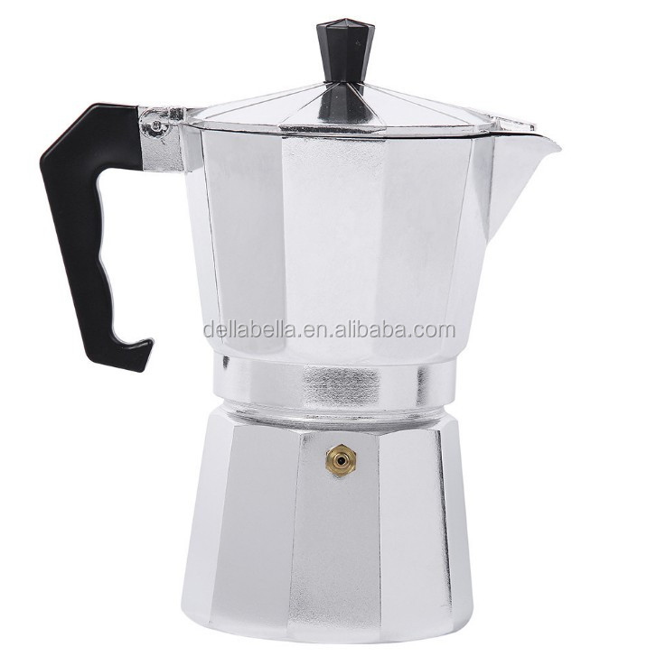 Aluminum mini portable espresso coffee maker with handle