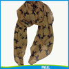 factory price polyester voile printed horse scarf