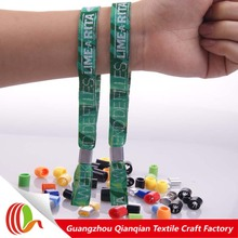 Factory direct sale cheapest wristbands for parties with metal lock