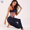 Women high waist workout leggings and crop top sleeveless Sports Wear Clothing Sets Gym Fitness Apparel Sports Wear
