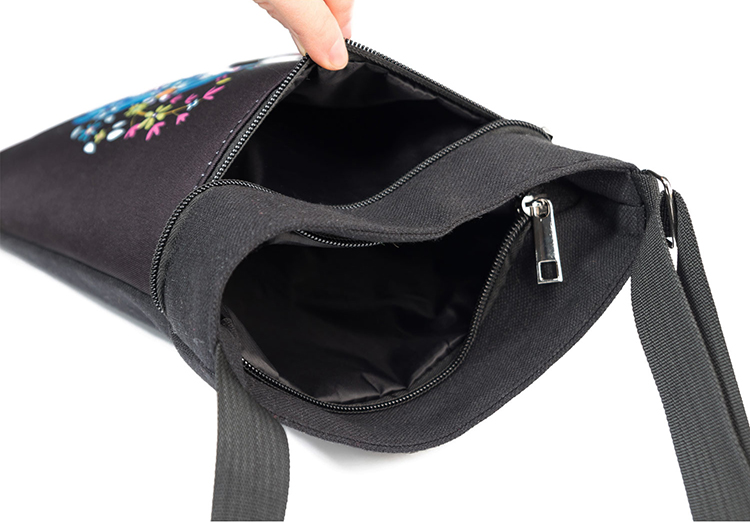 Travel simple crossbody bag canvas messenger bags wholesale