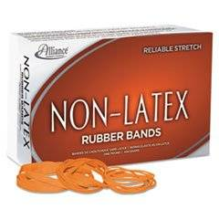 Non Latex Rubber Bands, Size 54 (orange), Sizes 19/33/64 (mix), 1lb Box By: Alliance