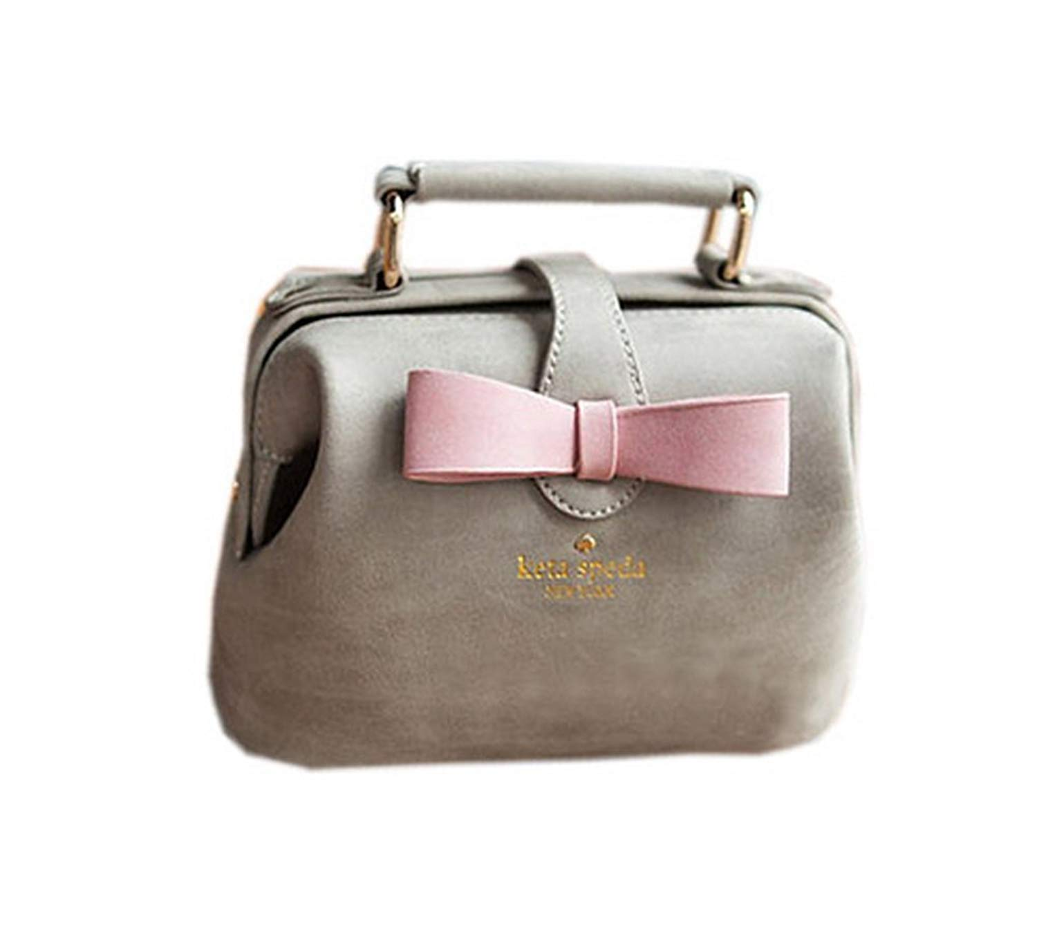 Get Quotations · Adorable Gray Frosted Leather Clutch Bow Knot Clutch Bag 63043c19679bd