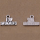 "fashion alloy charms pendant with word"" I love swimming"""