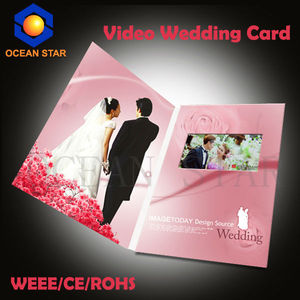 Happy holiday video greeting card with lcd video player