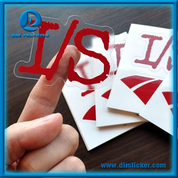 Custom transparent vinyl adhesive label sticker printing