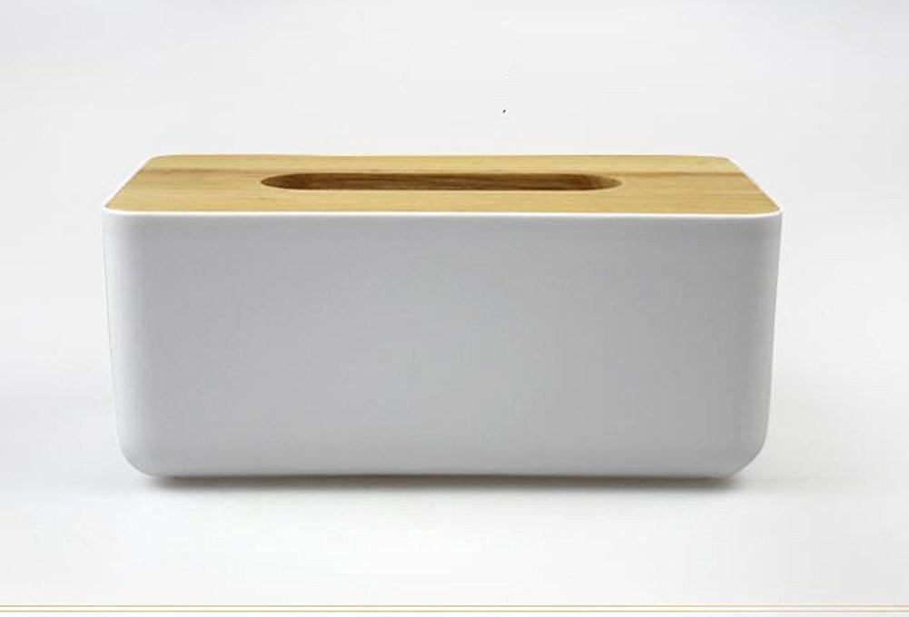 "Tissue Box Rectangular Wooden lid Napkin Holder Living Room Holder Box Cover (B(Size:L:9.1"" X W:5.1"" X H:3.9""))"