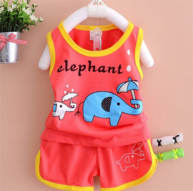 Cute Baby Boy Clothing Sport Set Custom Printed Baby Clothes Brande