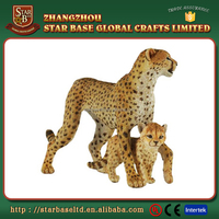 New arrival custom cheap lovely leopards polyresin animal figurine