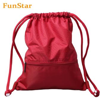 Men Women Sport Sack Pack Drawstring Backpack Bag Gym Bag Large Gym