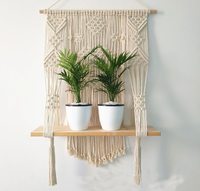 Macrame Plant Hanger Rope Flower Pot Basket Holder Wall Hanging with Tassels 4mm Cotton Rope