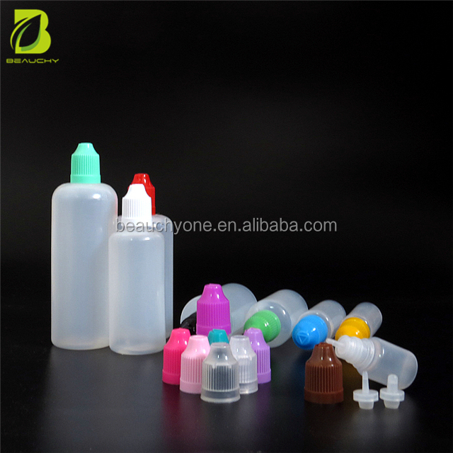 5ml 10ml 15ml 20ml 30ml 50ml 60ml PE plastic dropper bottle squeeze dropper bottle for E vapor liquid juice