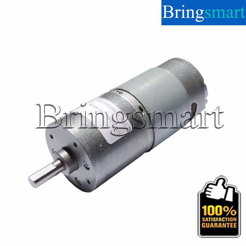 Jga37 545 low rpm geared motor 6 400 rpm 24 volt dc motor for 12 volt high torque motor