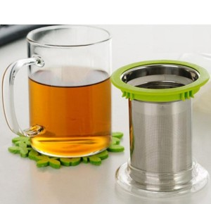 Hot! Office Glass Tea Cups/ Mugs with Glass Strainer/ Filter/ Infuser and Stainless Steel Lid on Sale