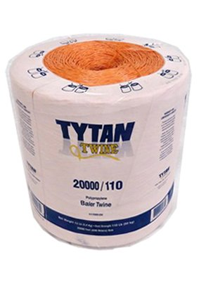 Tytan International PBT20110TOSTNBP Baler Twine, Orange Poly, 20,000-Ft. Spool - Quantity 1