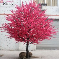 2017 fake decoration cherry tree artificial peach blossom wedding decoration cherry tree