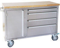 HTC4804W 48 inch Stainless Steel tool storage carts on wheels