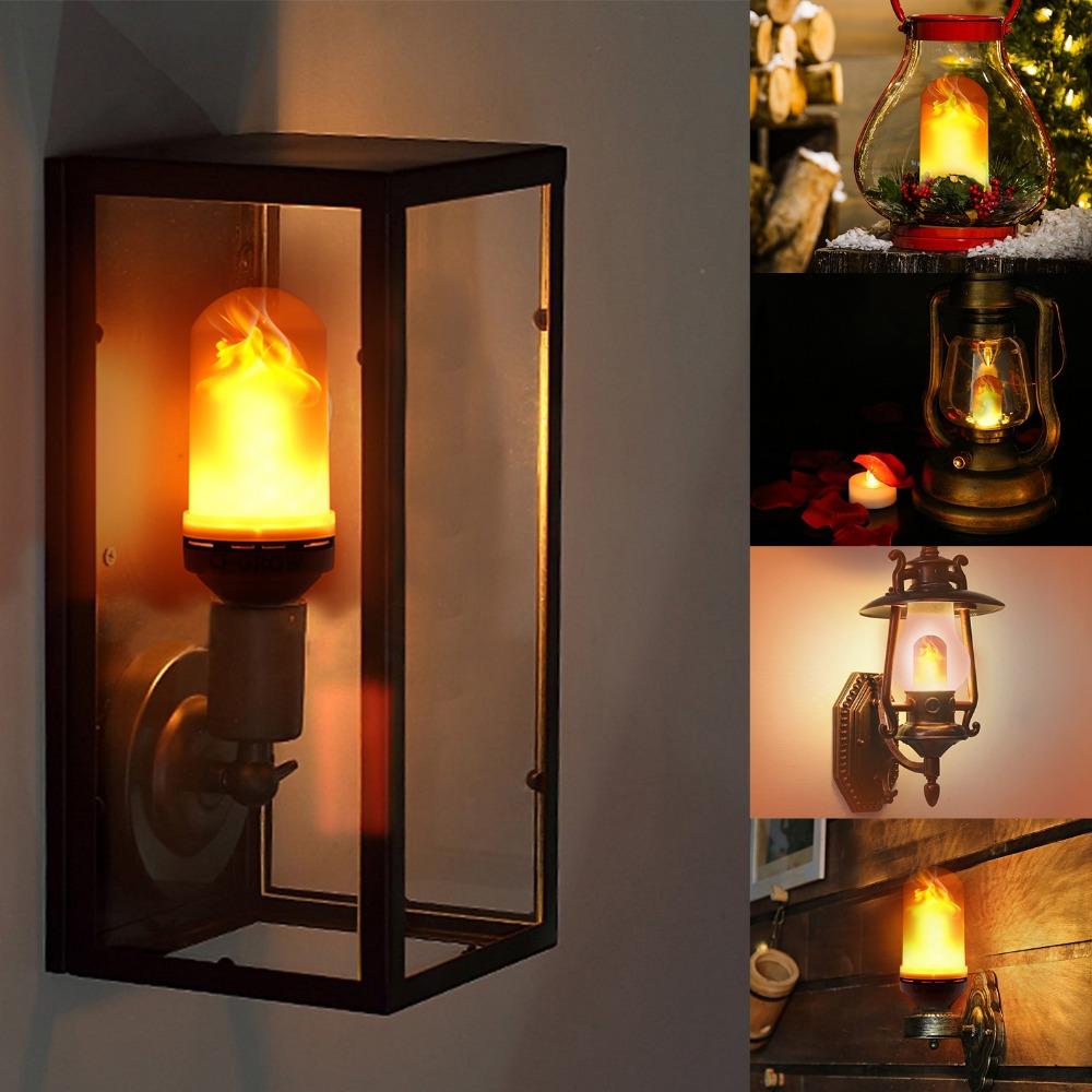 Grohandel led lampen flackern kaufen sie die besten led lampen neueste heier verkauf led flamme glhbirne feuer flackern urlaub dekorative led flamme lampe parisarafo Images