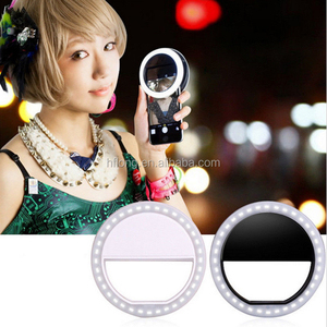 Manufacturer Pink Clip Mini Spot Selfie Fill LED Light Portable Round Ring Flash For smartphone