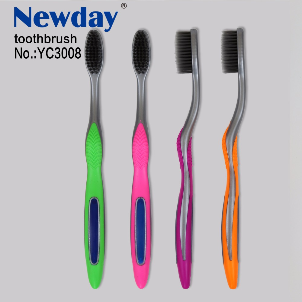 2018 new package of adult toothbrush with PP holder foldable case FM118