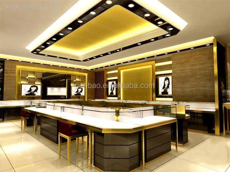 OEM Luxury Jewelry Shop Interior Design Jewellery Display Furniture
