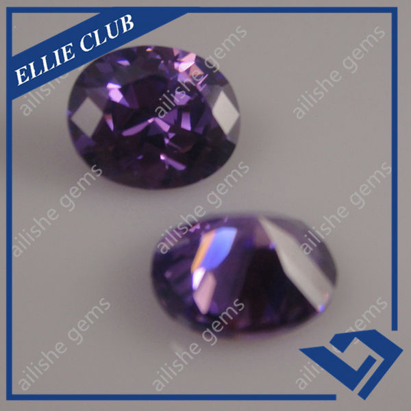 6*8mm oval shape cubic zirconia stone in american