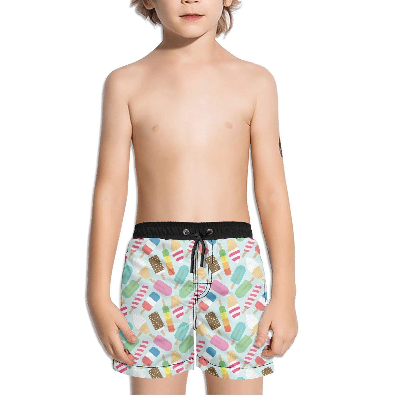 Ouxioaz Boys Swim Trunk Love Ice Pop Ice Cream Beach Board Shorts