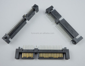 SATA 7+15 Pin 22 Pin Straight Male Connector For Hard Drive HDD